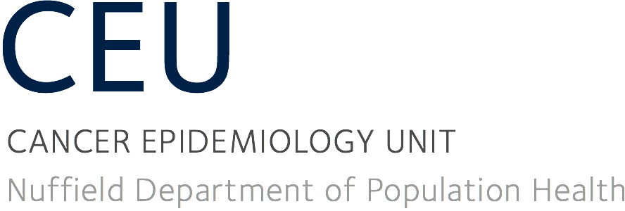 Oxford Cancer Epidemiology Unit (CEU)